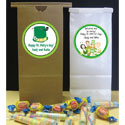 Custom St. Patrick's Day theme favor bags