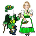 Custom St. Patrick's Day cutouts