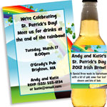 Pot of Gold rainbow theme St. Patrick's Day invitations and favors