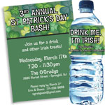 Shamrock theme St. Patrick's Day invitations and favors
