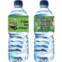 Custom St. Patrick's Day water bottle lables