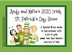 personalized st. patty's day beer bottle label