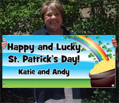 st. pat's day party custom banners