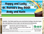 st. patrick's day candy bar favors