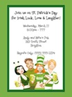 personalized st. pat's day invitation