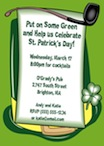 personalized st. patrick's day invitation