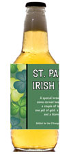 personalized shamrock beer bottle label