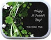 personalized shamrock mint tin