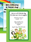 personalized st. patty's day invitation