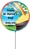 Rainbow Lollipop St Patrick's Day Party Favor
