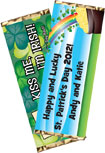 personalized shamrock candy bar wrapper