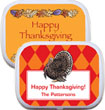 Thanksgiving party favor, mint and candy tins