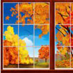 fall leaves scene setter thanksgiving decoration