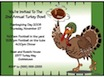 personalized turkey bowl invitation