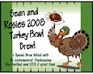 personalized turkey bowl beer bottle label