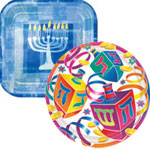 Hannukah party paper goods