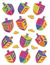 Dreidle Chanukah Stickers