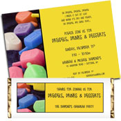 Chanukah dreidels invitations and party favors