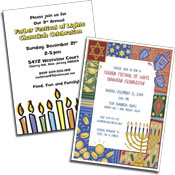 See all Chanukah invitations and party favors