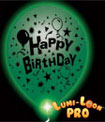 Green Light Up Birthday Balloons