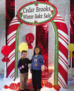 candy cane theme party arch