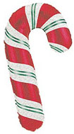 candy cane party balloons