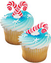 candy cane cupcake toppers