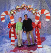 candy cane Christmas entrance arch