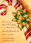 personalized candy cane invitation