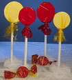 Christmas candy theme lollipop props