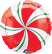 peppermin swirl Christmas balloon