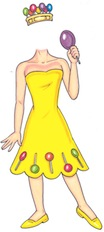 life size princess lolly cutout