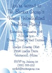 perosnalized white christmas invitation
