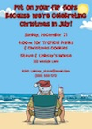 personalized christmas in july invitation