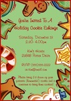 personalized cookie theme invitation
