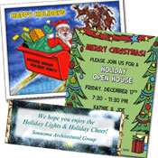 See all custom Christmas invitations and party favors