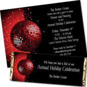 Winter Holiday Dance Party Invitations and Favors