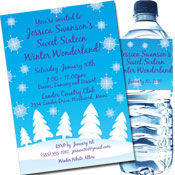 personalized winter wonderland invitation