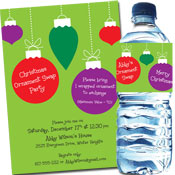Ornaments theme invitation and party favors