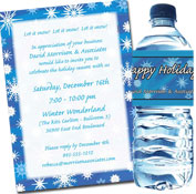 Snow theme invitation and party suppllies