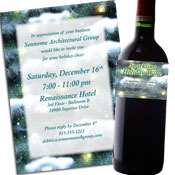 Personalized Winter party invitations, decorations and party supplies