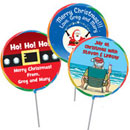 Custom Christmas lollipops