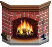 Fake Christmas Fireplace Decoration