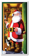 Santa Christmas Door Cover