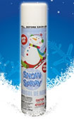 spray snow decoration
