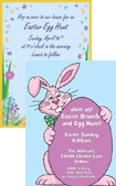 personalized easter bunny invitation