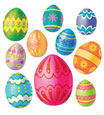 Easter egg swirl decorations