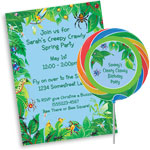 Bugs theme invitations and favors