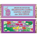 Easter theme candy bar wrappers