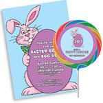 Easter Bunny Theme Easter Invitations